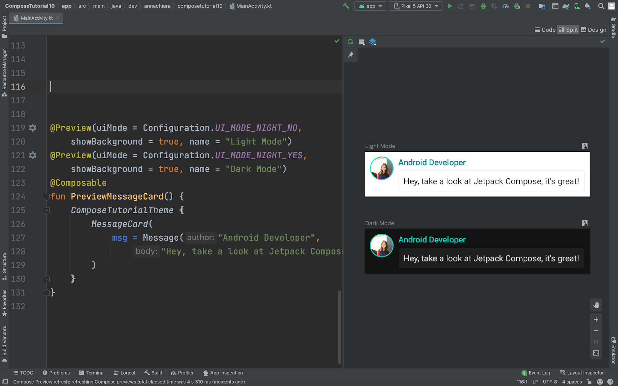 jetpack compose for Android studio