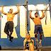 Verônica Araújo e Paulo Simas treinam CrossFit juntos em Box no Rio