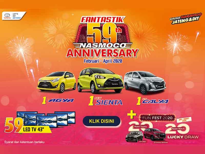 Fantastik 59 Tahun Nasmoco Promo Toyota Jateng dan DIY