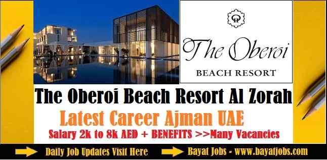 The Oberoi Beach Resort Al Zorah Ajman Latest Job Vacancies