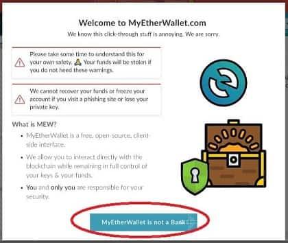 Configurar paso a paso My Ether Wallet guardar criptomoneda DENT