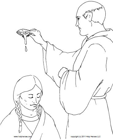 Blessed kateri tekakwitha coloring book download free for St kateri coloring page