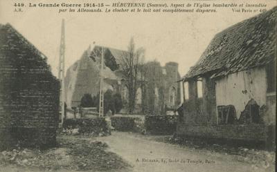 CPA église de Hébuterne