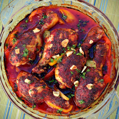 Artsy Bites: Baked Chicken with Bell Peppers and Garlic | Pui la Cuptor cu Ardei si Usturoi