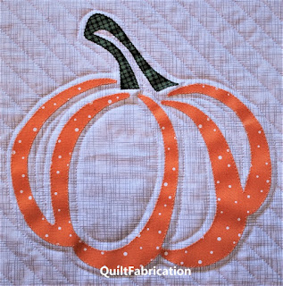 Pumpkin block by QuiltFabrication