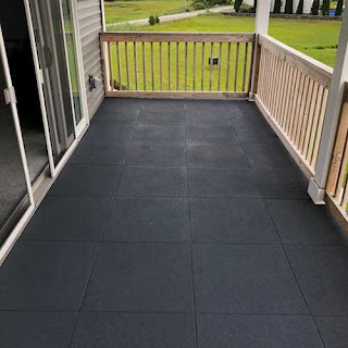 Greatmats rubber pavers on balcony