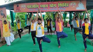 #JaunpurLive : हर्षोल्लास के साथ मनाया गया सप्तम अन्तर्राष्ट्रीय योग दिवस..