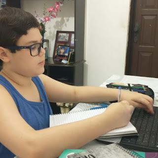 Tiago Rodrigo se dedica aos estudos e busca concentração nas aulas remotas