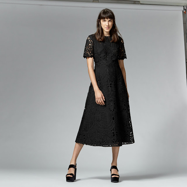 warehouse black lace dress, self portrait copy dress,