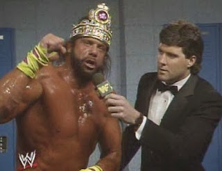 WWF / WWE - Wrestlemania 6: Randy Savage was irate about the return of Miss Elizabeth and his loss to Dusty Rhodes and Saphire
