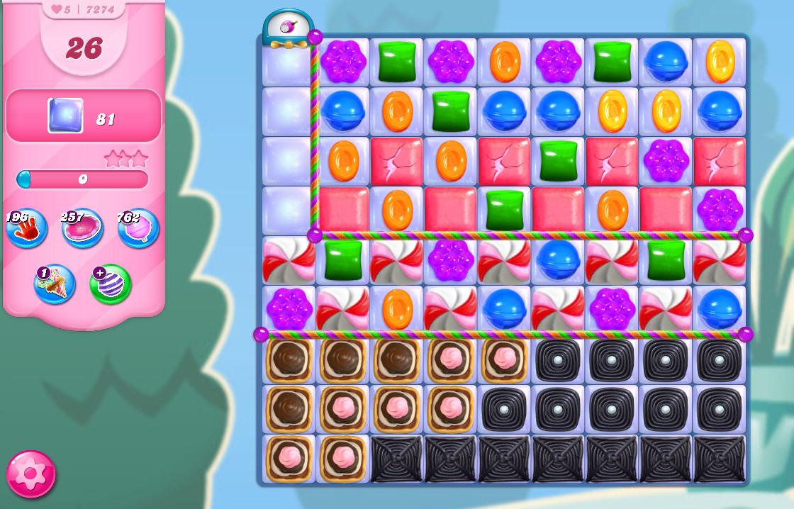 Candy Crush Saga level 7274