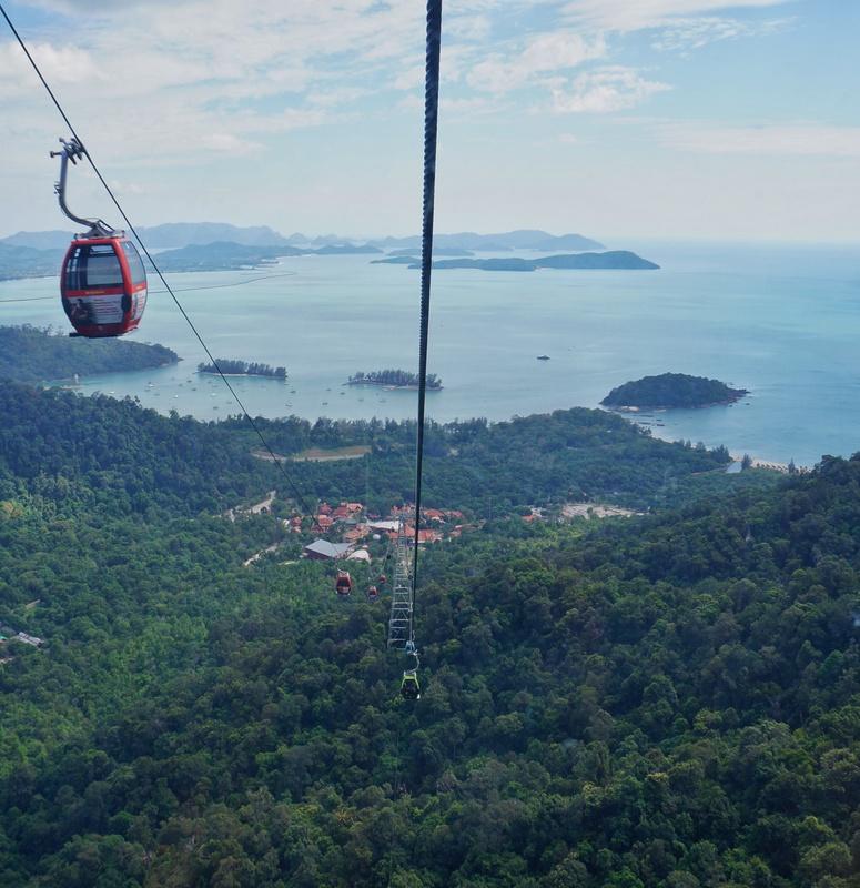 Teleférico até a SkyBridge em Langkawi