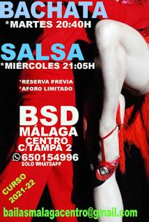 APRENDE A BAILAR BACHATA Y SALSA , EN BSD BAILAS MÁLAGA CENTRO.