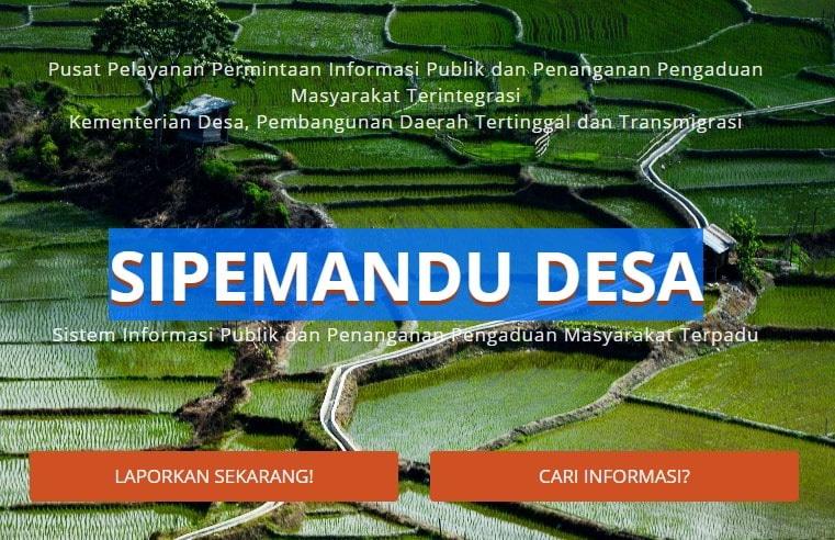 Pembangunan Daerah Tertinggal dan Transmigrasi melayani setiap pengaduan yang diadukan ma Layanan Pengaduan Masyarakat (Kemendesa PDTT)