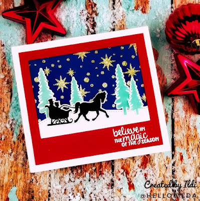 Believe in the magic of the season by Hellopilda features Starfield and Winter Memories by Newton's Nook Designs; #newtonsnook
