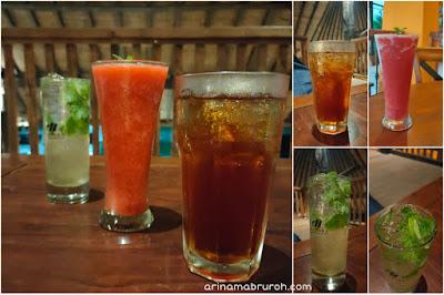 Aneka minuman di wistara cafe
