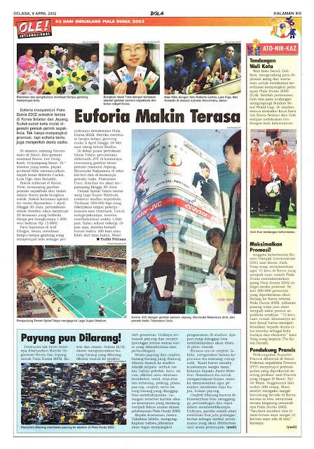 MENJELANG PIALA DUNIA 2002: EUFORIA MAKIN TERASA