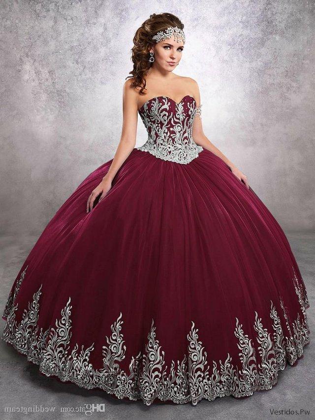 Mas De 31 Vestidos De Xv Color Vino Colección 2019