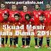 Skuad pemain Mesir Piala Dunia 2018