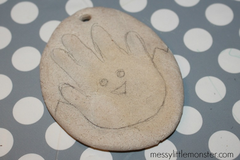 Salt dough Easter handprint