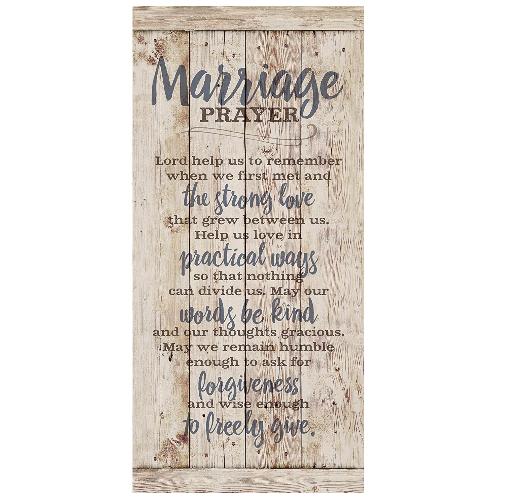 wooden marriage prayer