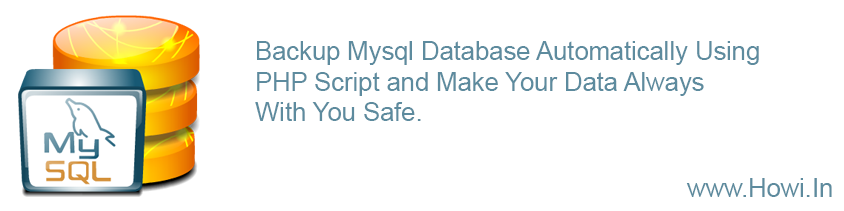 Auto Backup Mysql Database Using PHP Script