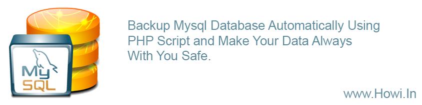 Auto Backup Mysql Database Using PHP Script