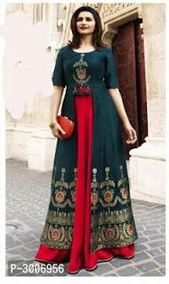Bollywood Style Designer Rayon Women's Kurtas