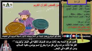 غلاف شرح درس من قصص القرآن الكريم - قراءة الصف الأول الإعدادي الفصل الدراسي الثاني