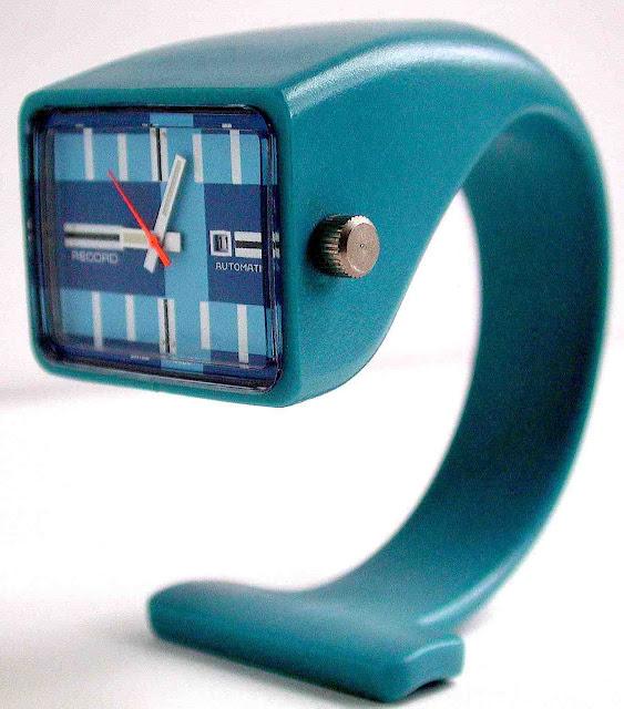 a modern teal table clock 1950s?