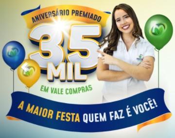 Cadastrar Promoção Aniversário 2020 Monteiro Supermercados 35 Anos - 35 Mil em Vales-Compras