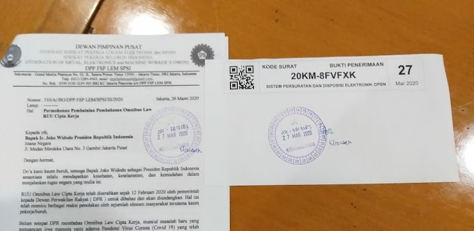 Surat Terbuka Ketua Umum F SP LEM SPSI Arif Minardi untuk Presiden RI Joko Widodo