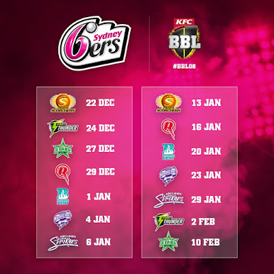 Seven BBL games at the iconic SCG for Sixers fans