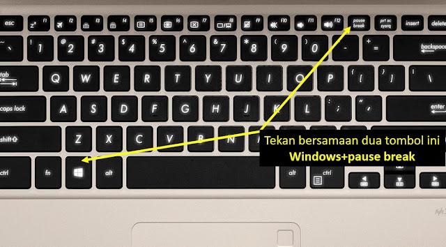cara cek spesifikasi laptop windows 10 - step 2