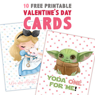 free baby yoda valentines
