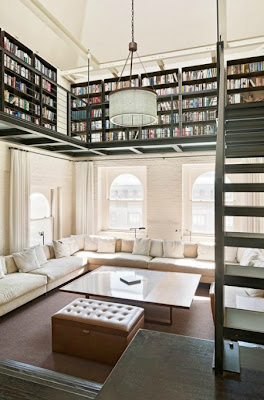 books in a n.y. loft