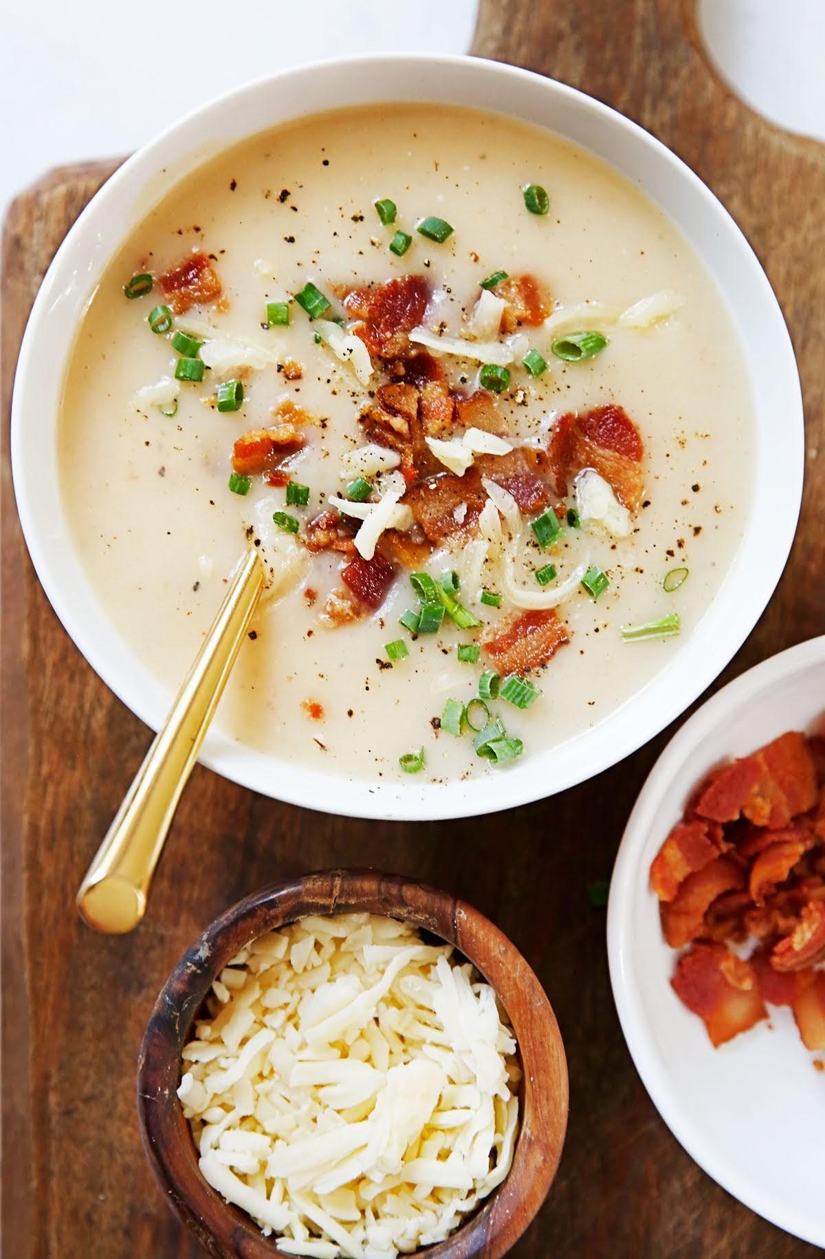 Instant Pot Loaded Baked Potato Soup | Lexi's Clean Kitchen