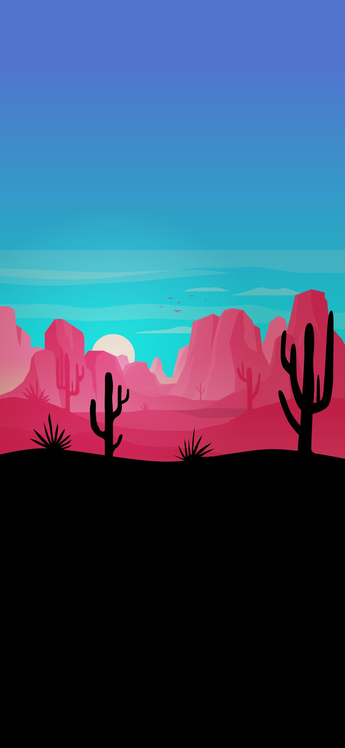desert sunset minimalistic heroscreen cool wallpapers