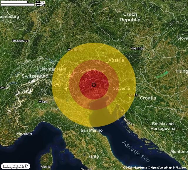 Scossa di terremoto in provincia di Udine
