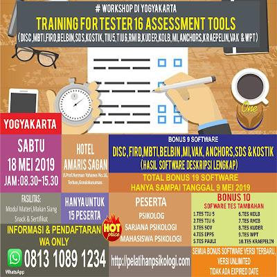 Workshop Psikologi Jakarta | Pelatihan Alat Tes Psikologi 2019 | WA: 0812-8348-8598