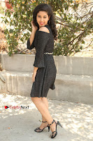 Telugu Actress Pavani Latest Pos in Black Short Dress at Smile Pictures Production No 1 Movie Opening  0207.JPG