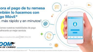 Zoom e Italcambio ofrecen remesas a través de pago móvil