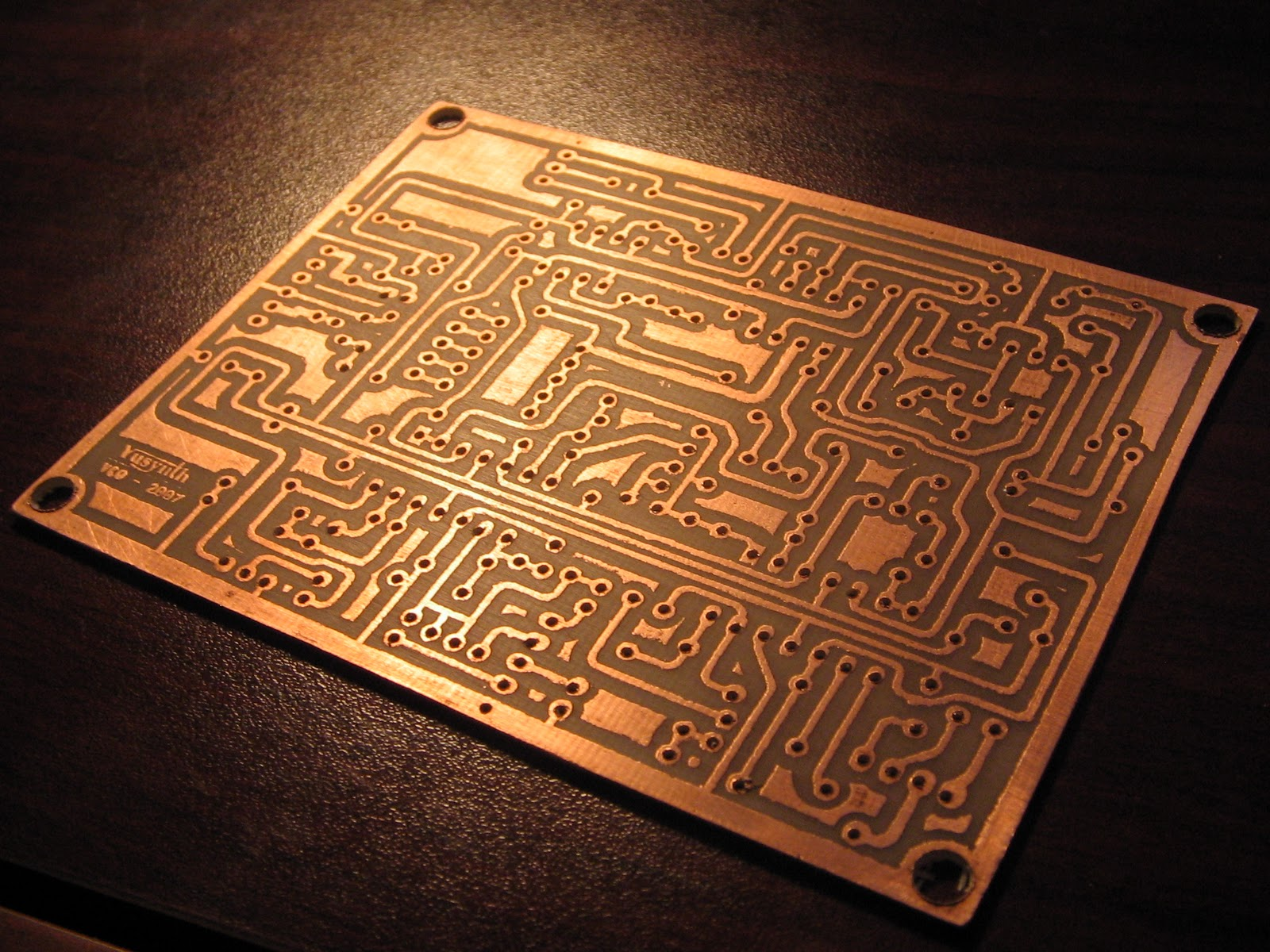 They Are On A Custom Etched Circuit Board And It Is The First Circuit