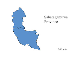 free download vector editable svg map of sabaragamuwa  province sri lanka