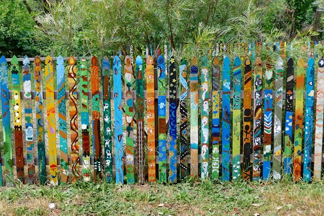 Nannup, Gartenzaun, Zaun, bunt, Kunst, Australien, WA, Westaustralien