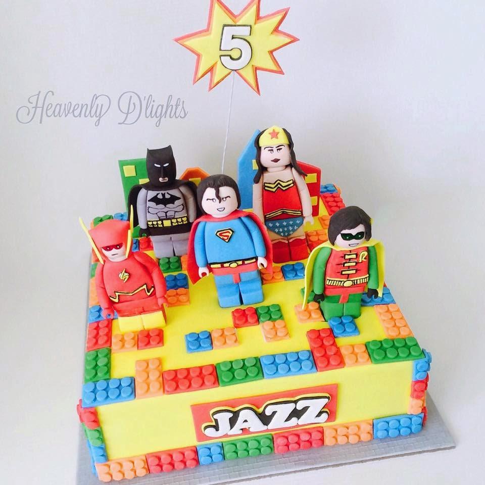 Heavenly Dlights Lego Superhero Birthday Cake For Jazz