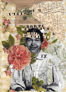 Colagem Rosa Parks por Maria Rosa