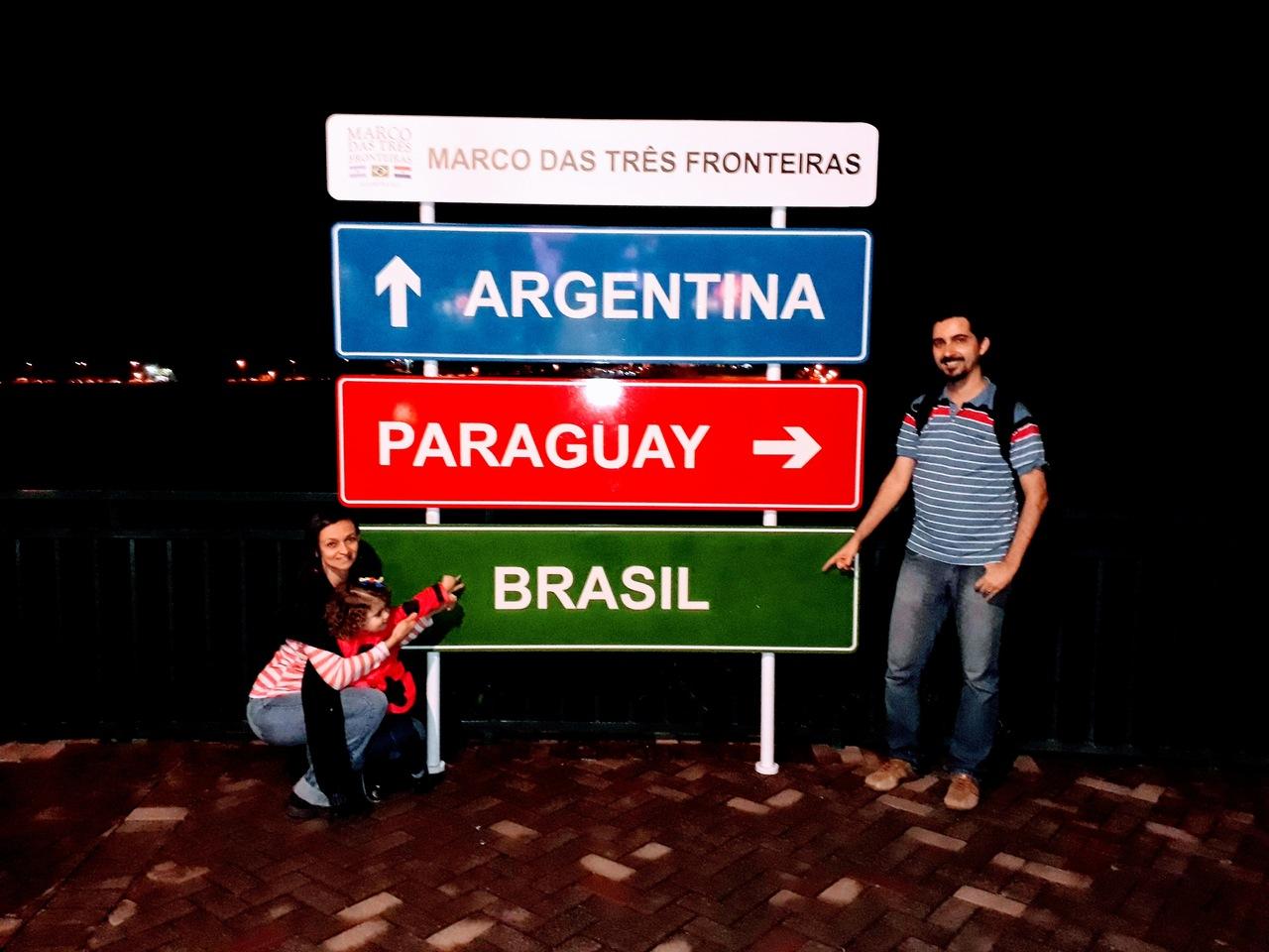 O Marco das 3 Fronteiras em Foz do Iguaçu