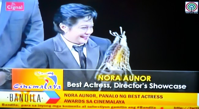 Nora Aunor on Cinemalaya Film Festival 10th Edition 2014 Awards Winners List