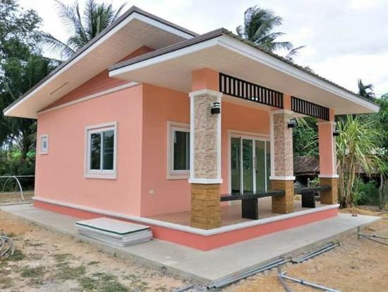 rumah minimalis kombinasi warna pink